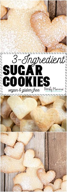 3 Ingredient Sugar Cookies - Vegan & Gluten-Free - Nerdy Mamma I cannot believe I stumbled across this recipe for Sugar Cookies. It's insane, I tell you, INSANE. And far too easy to make cookies now. Easy Vegan Cookies, Vegan Gluten Free Cookies, Vegan Sugar Cookies, Sugar Cookie Recipe Easy, Easy Gluten Free Desserts, Gluten Free Peanut Butter, Easy Cookie Recipes, Vegan Desserts, Easy Desserts