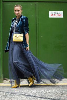 London Fashion Week SS17 Street Style: Day 3 - September 2016