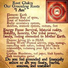 The first Chakra the Root.- loved and pinned by www.omved.com