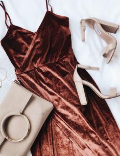 Lulus Exclusive! Get groovin' in the Honey Love Rusty Rose Velvet Bodycon Wrap Dress! Stunning, lightweight stretch velvet falls from adjustable, skinny straps into a surplice bodice and fitted waist. A figure flaunting wrap skirt falls to a midi length. #lovelulus