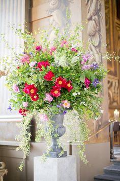 Wedding flowers for large venues. Urn arrangement by London florist Rebel Rebel.