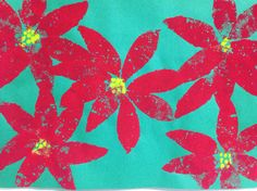 First graders learned about sponge painting techniques and the use of tempera paint. We studied the poinsettia flower and recreated a beautiful poinsettia display for the season! Sponge Painting, December Holidays, South Of The Border, Poinsettia Flower, Tempera, First Grade, Painting Techniques, Online Art Gallery, Seasons