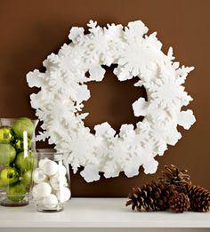 Copos de nieve en fieltro para la navidad : cosascositasycosotasconmesh