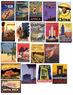 https://flic.kr/p/7BvjuT | Travel Posters | Free to use in your Art only, not for Sale on a Collage Sheet or a CD