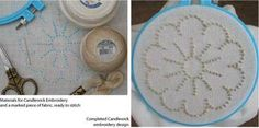 Candlewick Embroidery Tutorial: Working a Candlewick Embroidery Design using Colonial Knots