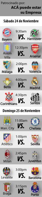 Fútbol recomendado para este fin de semana: 24 al 25 de Noviembre    http://blogueabanana.com/deportes/91-futbol/838-futbol-recomendado-24-al-25-de-noviembre.html