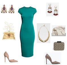 Combinar vestido verde de boda