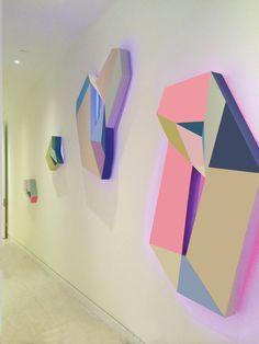 Zin Helena Song - inter-Light#3 - Bright neon LED light sculptural painting on…