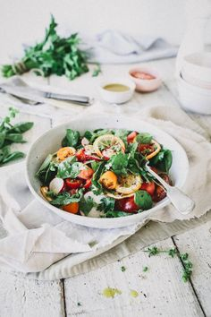An easy recipe for grilled lemon & watermelon herb salad with a lemon vinaigrette dressing; The perfect summer salad for a bbq or gathering. Easy Summer Salads, Summer Salad Recipes, Whole Food Recipes, Diet Recipes, Vegan Recipes, Vegan Snacks, Shrimp Recipes, Turkey Recipes, Soup Recipes