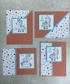 Scrapbook Cards, Scrapbooking, One Sheet Wonder, Kids Birthday Cards, Fancy Fold Cards, Stamping Up Cards, Card Sketches, Zebras, Kids Cards