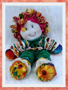 Jo Ann Fritz's media content and analytics Doll Crafts, Diy Doll, Yarn Crafts, Fabric Crafts, Easy Sewing Projects, Quilting Projects, Sewing Crafts, Yo Yo Quilt, Crafts To Make And Sell
