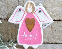 Novelty Gift Salt Dough Angel / Your Town / Your Group / Your Daughter's Name