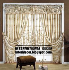 top curtain model and unique draperies with crushed shades, chiffon curtains
