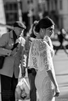 gali karten 2017 bridal strapless sweetheart neckline full beaded embellishment elegant sheath wedding dress with shrug sweep train (11) sdv -- Gali Karten 2017 Wedding Dresses