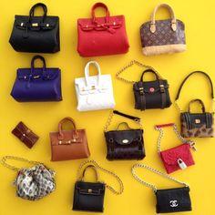 1, 2, 3... All that I need!  Quando você recebe uma encomenda e fica 100% satisfeito. Muito obrigado @barbie_top_model - Nunca vi tanta fofurice reunida. Seu trabalho é incrível. Super recomendo @barbie_top_model  #bag #purse #birkin #hermesbirkin #hermes #hermesbag #louisvuitton