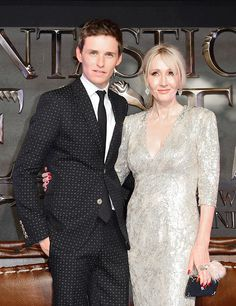 Eddie Redmayne and J. K. Rowling attend the European premiere of 'Fantastic Beasts And Where To Find Them' at Odeon Leicester Square on November 15, 2016 in London, England