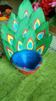 Peacock diya