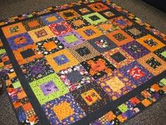 Halloween Squared Quilt | FaveQuilts.com