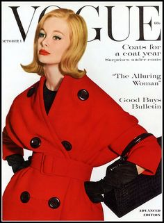 Monique Chevalier, cover photo by Irving Penn, Vogue, October 1, 1959
