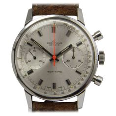 Breitling Stainless Steel Top Time Chronograph Wristwatch circa 1962