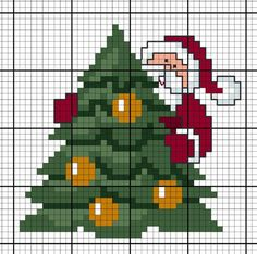 Diagramme gratuit DMC Sapin de Noël – Eleanor Greig - Let's Pin This Cross Stitch Christmas Cards, Xmas Cross Stitch, Cross Stitch Cards, Christmas Cross, Counted Cross Stitch Patterns, Cross Stitch Designs, Cross Stitching, Cross Stitch Embroidery, Christmas Stocking