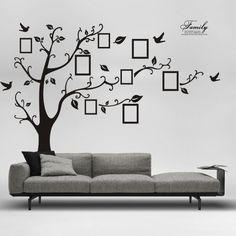 Large Size Black Family Photo Frames Tree Wall Stickers, DIY Home Decoration…