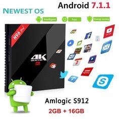 H96 Pro+ Android 7.1 Tv Box Amlogic S912 Octa Core 2g 16g Smart Set Top Wifi Bluetooth Ethernet Hdmi Usb Wi-fi 4kx2k China Arm Cortex-a53 Mali-t820mp3 Gpu Up To 750mhz