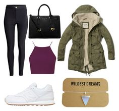 """""""Untitled #92"""" by lalalall ❤ liked on Polyvore featuring Topshop, H&M, New Balance, Abercrombie & Fitch and MICHAEL Michael Kors"""