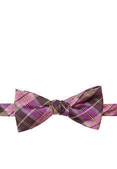 Saddlebred® Madder Plaid Bow Tie #belk #mensfashion #patterns
