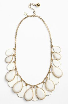 kate spade new york 'petal pusher' bib necklace | Nordstrom - navy, white, or yellow stones 148.00