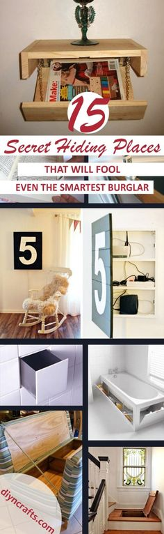 Keeping your stuff safe from potential burglars is important. Whether you have a security system installed in your home or not, there is nothing wrong with a bit of extra protection. Instead of heading out and buying the most expensive safe on the market, you can actually hide your things strategically around the house and burglars will never find them. #diy #safe #home via @vanessacrafting