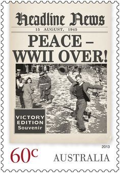 Headline News for 1945 - WW2 is over!