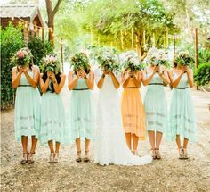 OuterInner.com Blog | Mismatching Bridesmaid Dresses: How To Follow This Wedding Trend | http://www.outerinner.com/blog