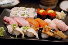 This is the perfect lunch, nigiri