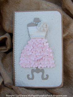 My Paper Pumpkin Patch, Stampin' Up!, Bridesmaid, wedding gift, dress it up, pearls, cards, note pad, All Dressed Up, My Paper Pumpkin Kit