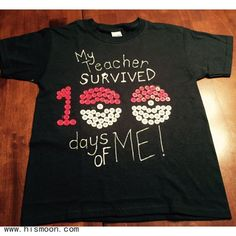 style School shirts - Shirt Pokemon 100 Days Of School Shirt To Celebrate The Day Of 100th Day Of School Crafts, 100 Day Of School Project, School Projects, Kindergarten Shirts, Kindergarten Projects, School Spirit Days, School Days, 100 Day School Shirt, 100 Days Of School Project Kindergartens