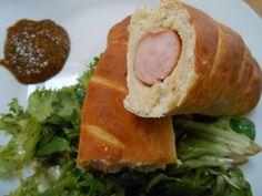 Rezept Wiener in Brezenteig von Louismama - Rezept der Kategorie Backen herzhaft