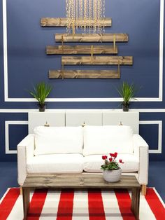 Love the white on dark moulding! Design Star Season 7: Photo Highlights From Episode 2 : Design Star : Home & Garden Television