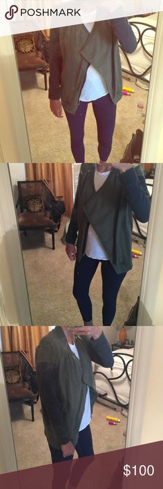 Lululemon Athletica jacket. EUC. Green front and back with gray sleeves. Zips in front. EUC. lululemon athletica Jackets & Coats