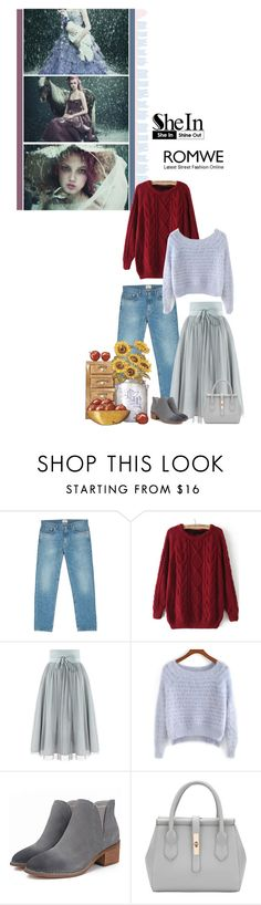 """""""The Snow glows white on the mountain tonight, not a footprint to be seen"""" by fashionqueen76 ❤ liked on Polyvore featuring Acne Studios, romwe, Sheinside and shein"""