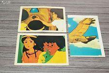 Lot 3 vignettes Age ° 154 155 158 (NO Panini) 1983 ♦ Les Mystérieuses Cités d'Or
