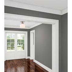 Best Home Decoration Magazine Code: 5146059007 Paint Colors For Living Room, Paint Colors For Home, House Colors, Gray Living Room Walls, Interior Columns, Interior Trim, Interior Design, House Color Schemes Interior, Grey Interior Paint