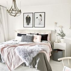 Modern chic bedroom stay strong a stay strong modern chic living room decor . Dream Rooms, Dream Bedroom, Master Bedroom, Girls Bedroom, Cozy Bedroom, Bedroom Decor, Bedroom Ideas, Decorating Bedrooms, Bedroom Modern