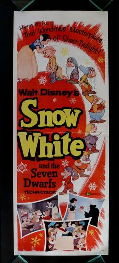 SNOW WHITE AND THE SEVEN DWARFS (1937)  poster from 1958