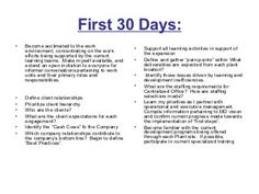 30 60 90 days plan new job marketing - Google Search | Career ...