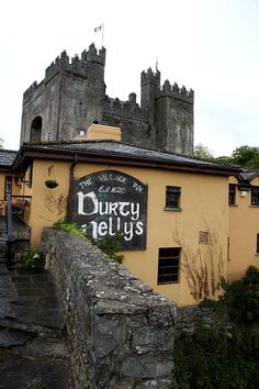 Durty Nelly's, Est. 1620 - Bunratty Castle in the background.. Limerick, Ireland.