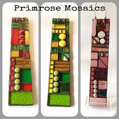 Hanging garden pendants/ ornaments/ gifts. Handcrafted glass mosaic. Www.primrosemosaics.com