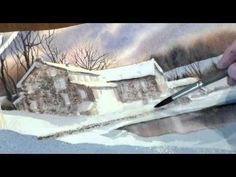 ▶ How to Paint a Country Snow Scene with Watercolors - Lesson 3 (Completion:) - YouTube