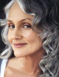 gorgeous gray curls