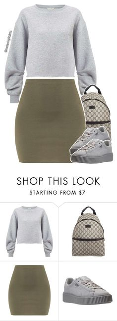 """Untitled #1277"" by melaning0ddess ❤ liked on Polyvore featuring Miss Selfridge and Gucci"